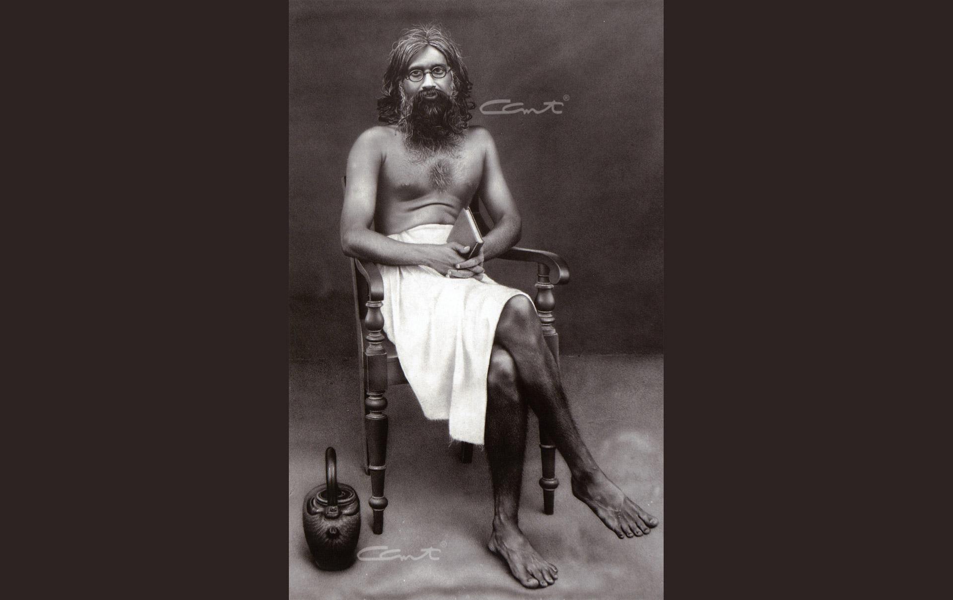 Swami Tyageeshananda, headmaster of Vivekodayam Boys' High School, where Swami Chinmayananda studied.